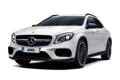 Mercedes Benz GLA Class AMG Hatchback Special Edition AMG 45 4MATIC Yellow Night Edition 5dr Auto Business Contract Hire 6x35 10000
