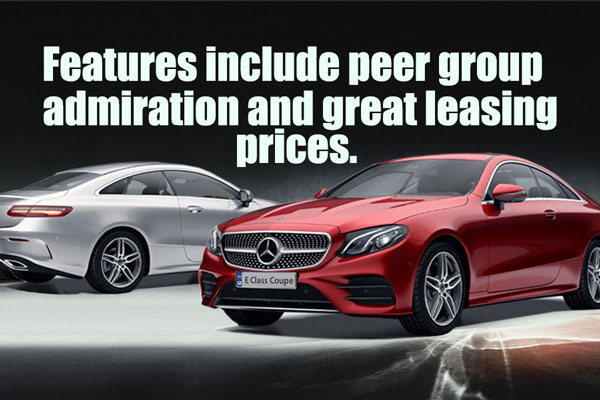 Great Lease Prices  On The Full  E-Class Range